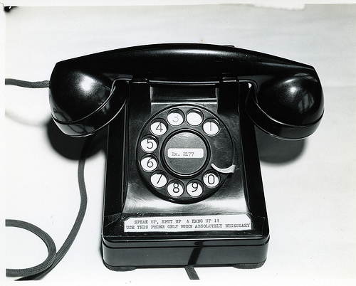 88 telephone at Tyndall Field, Florida WWII